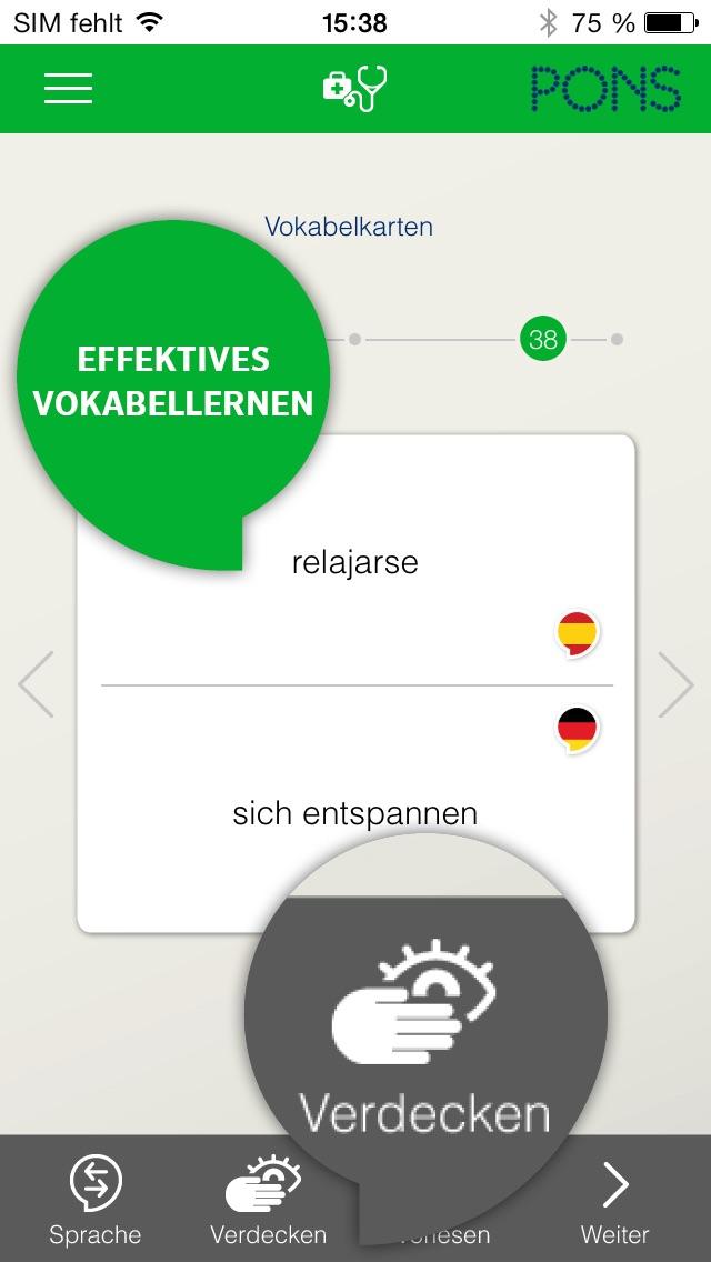 Screenshot for Spanisch lernen - PONS Sprachkurs für Anfänger in Germany App Store