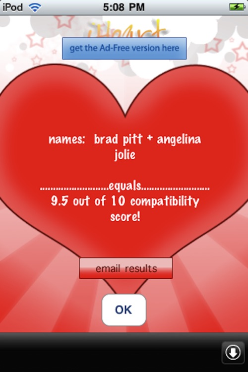 iHeart Love Compatibility Match Calculator Free - Test Your Crush! screenshot-4