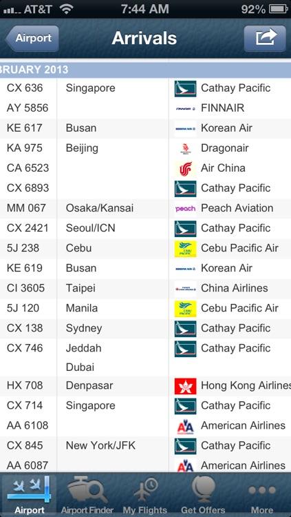 Hong Kong Airport + Flight Tracker Premium screenshot-3