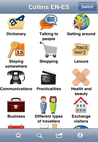 Collins English<->Spanish Phrasebook & Dictionary with Audio
