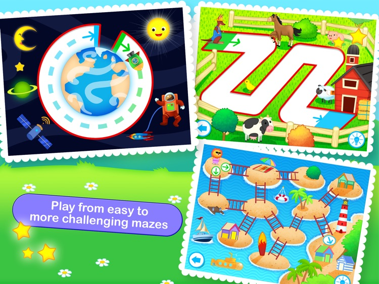 Toddler Maze 123 - Fun learning with Children animated puzzle game screenshot-1