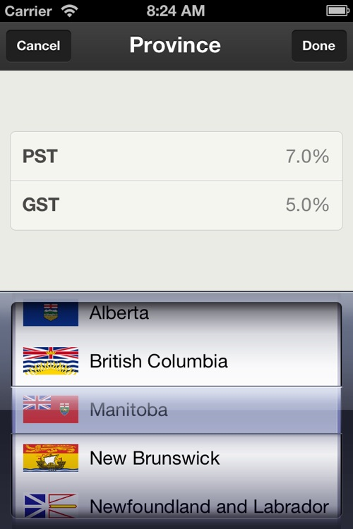 Canadian Sales Tax Calculator Plus screenshot-4