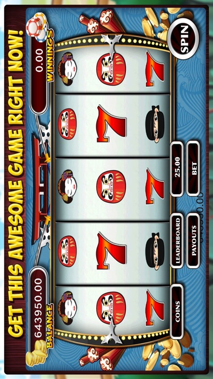 Ninja Slots Machine- Fun slot games