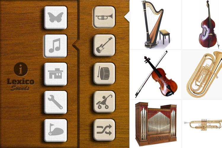 Sound Puzzle - identify the sounds of animals, instruments