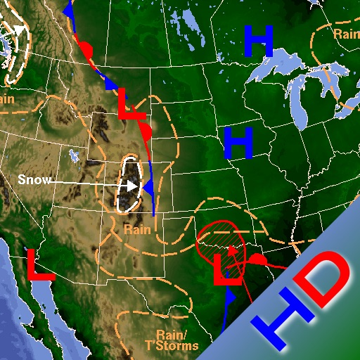 US Weather Maps HD icon