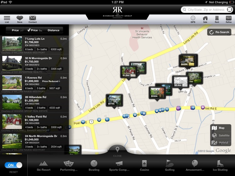 Fairfield County CT Real Estate App for iPad