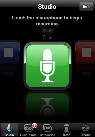 SpeakEasy Voice Recorder screenshot one