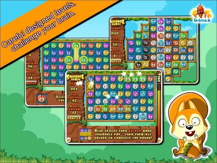 Squirrel Burst HD Free screenshot-4