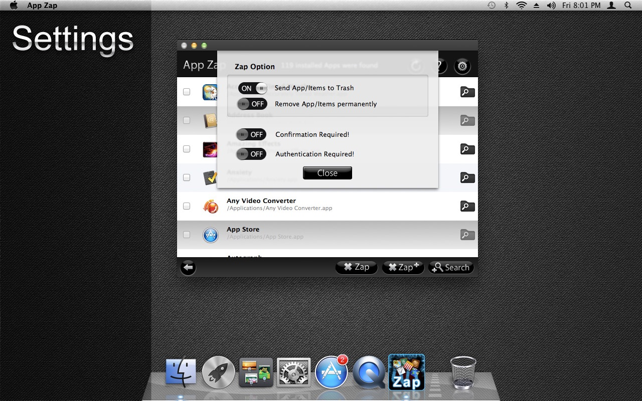 App Zap on the MacAppStore
