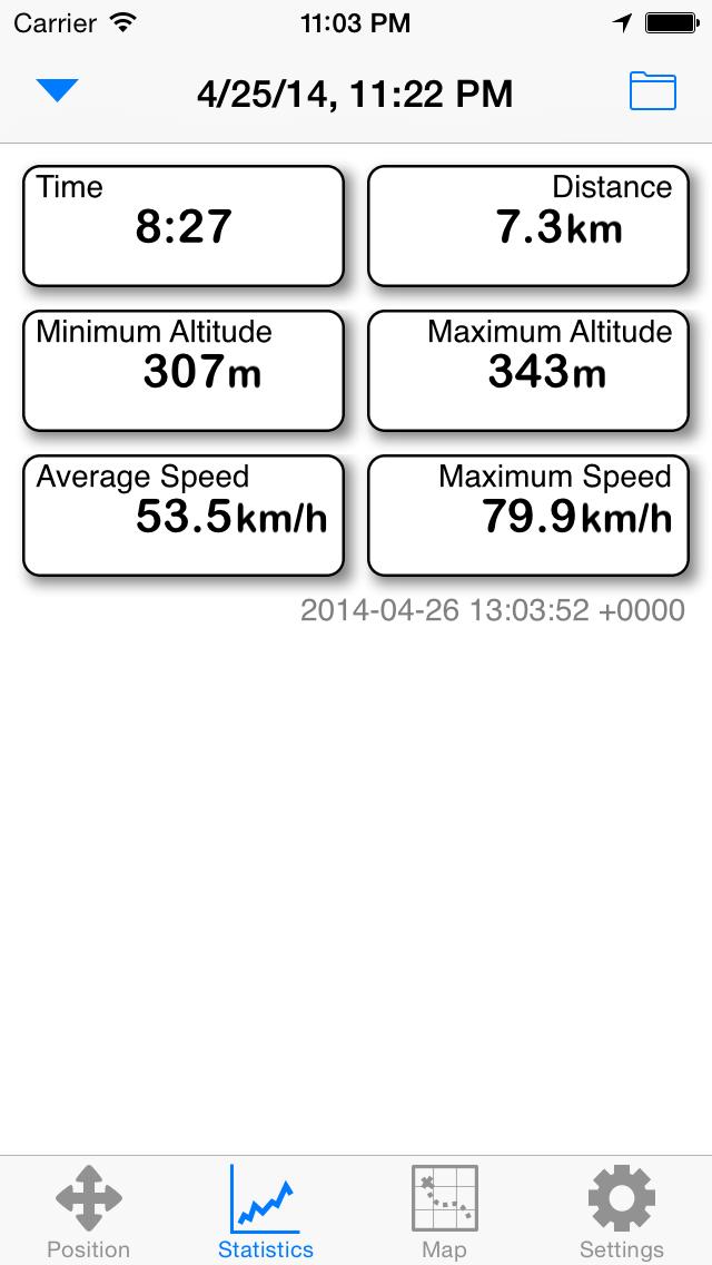 GPS screenshot three