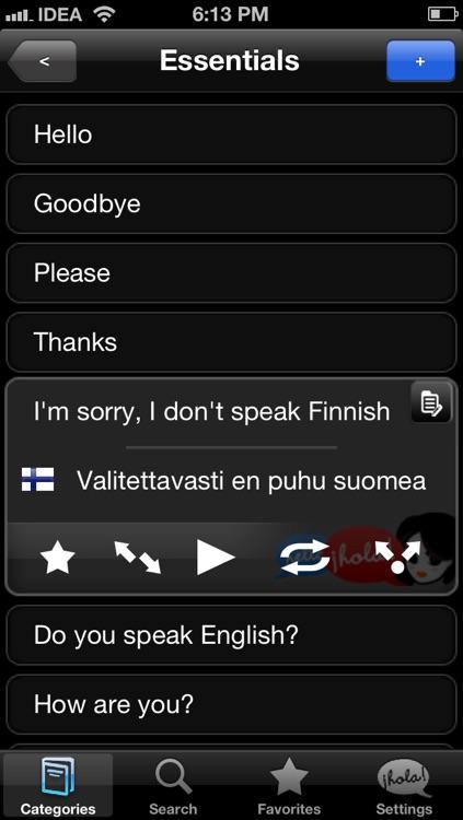 Lingopal Finnish LITE - talking phrasebook