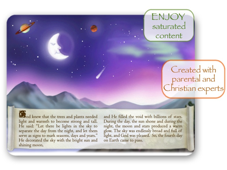 Bible Stories for Children - How God Created The World HD screenshot-1
