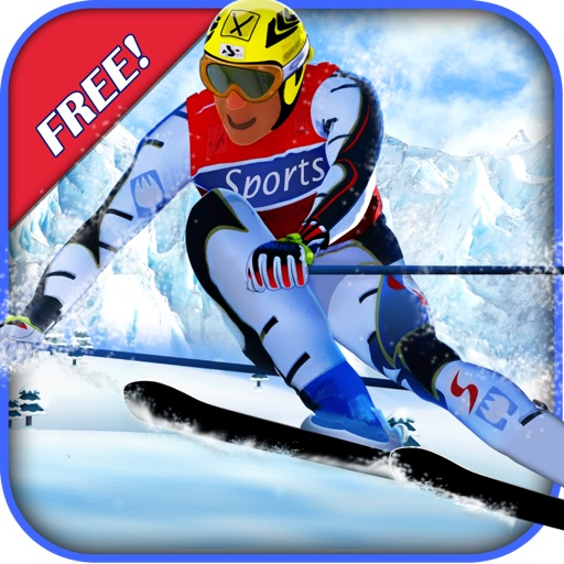 Ski Race Time - Surfer Snow Skiing on Safari Slopes icon