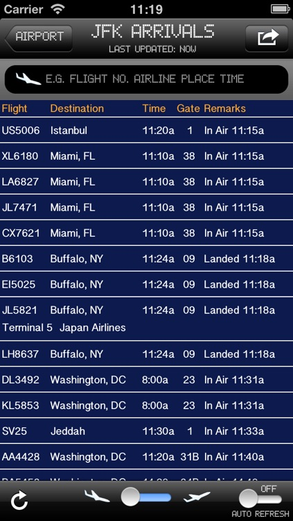 US Airport - iPlane2 Flight Information