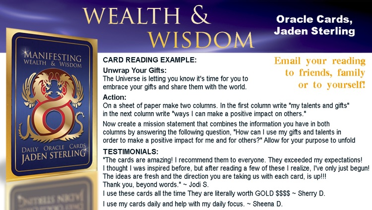 Wealth & Wisdom Oracle Cards