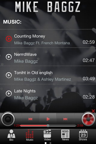 Mike Baggz App screenshot 2
