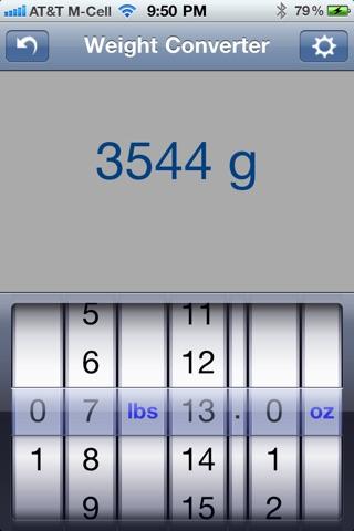 Weight Converter screenshot one