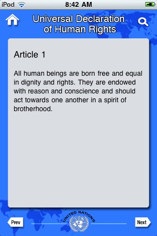 United Nations Declaration of Human Rights [UN] screenshot-3