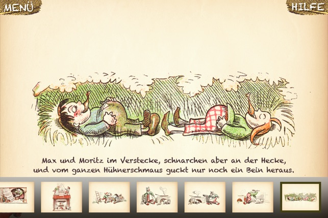 max und moritz kinderbuch im app store. Black Bedroom Furniture Sets. Home Design Ideas