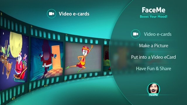 FaceMe Video Booth FREE - send funny eCards Screenshot