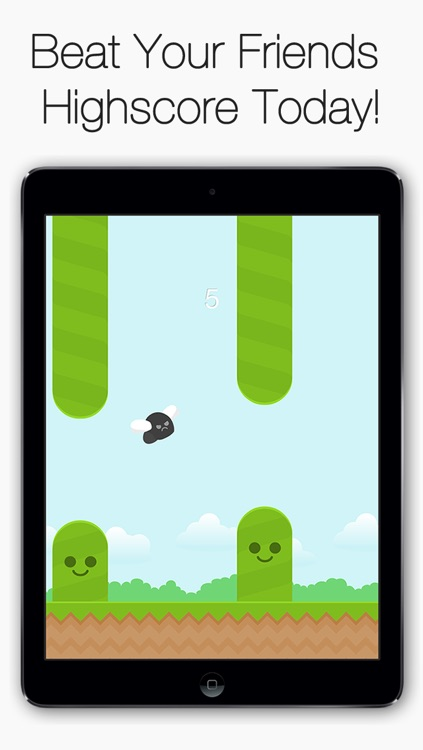 Angry Fly - Flap your bird wings to avoid the hills! screenshot-3
