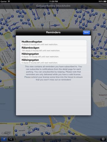 Gatuparkering Stockholm iPad
