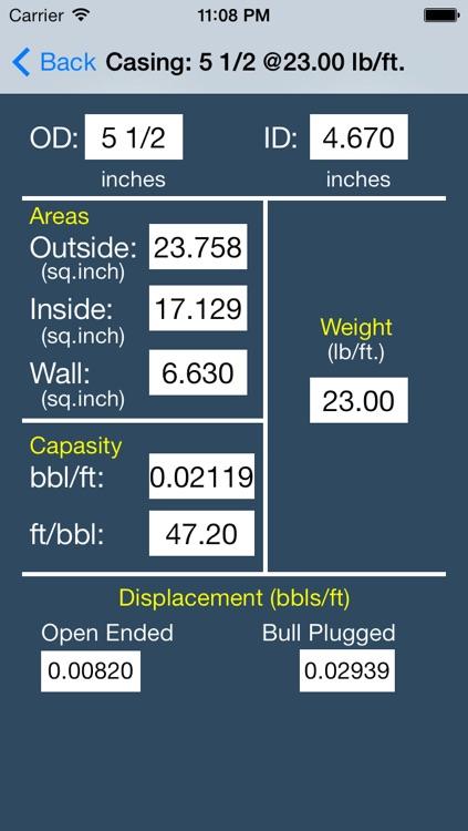 OilField Dimensions Data