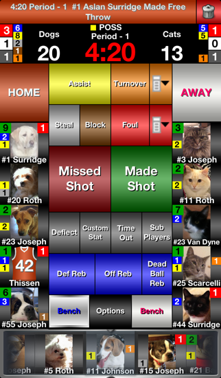 iTouchStats Basketball screenshot two