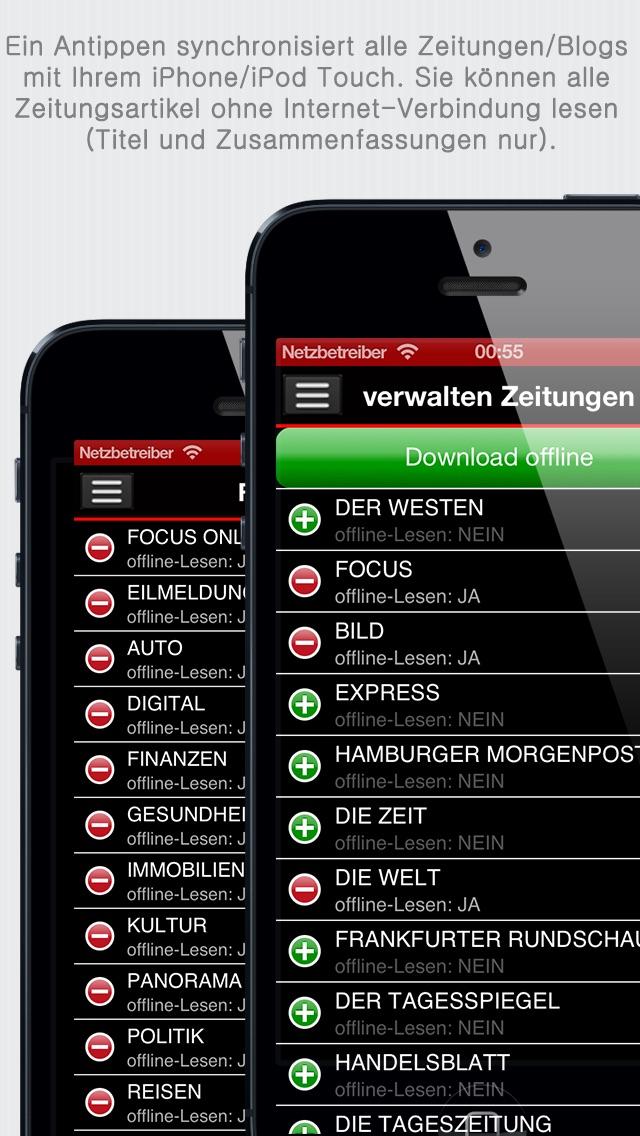 Deutsche Zeitungen review screenshots