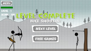 アップル射撃 - 無料ゲーム - 弓と矢 (Stickman Apple Shooting Showdown - Free Bow and Arrow Fun Doodle Skill Game)のスクリーンショット4