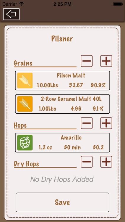 Beer Recipe Calculator Lite