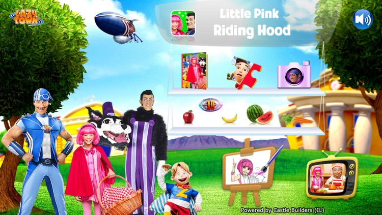 LazyTown's Adventures LITE – Little Pink Riding Hood Video Storybook with Narration, Puzzle Games, Coloring Pages, Photo-Booth, Music Videos, Training Videos and Cooking Recipes screenshot-3