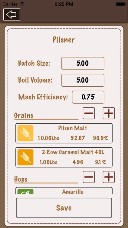 Beer Recipe Calculator