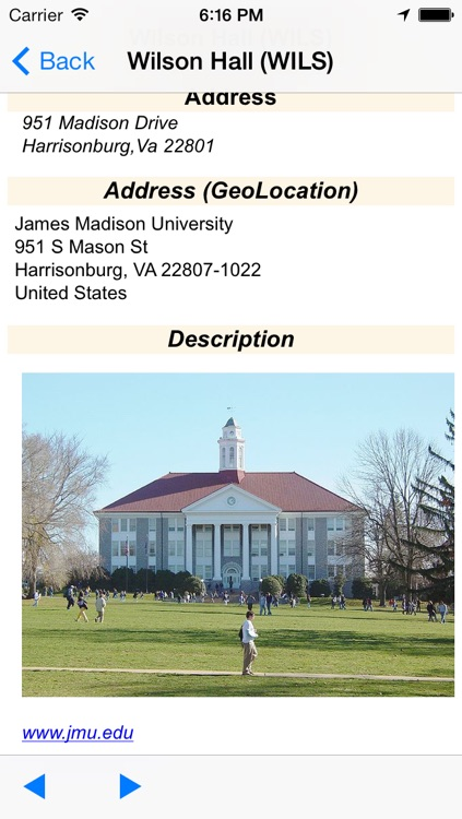 eMap JMU : James Madison University