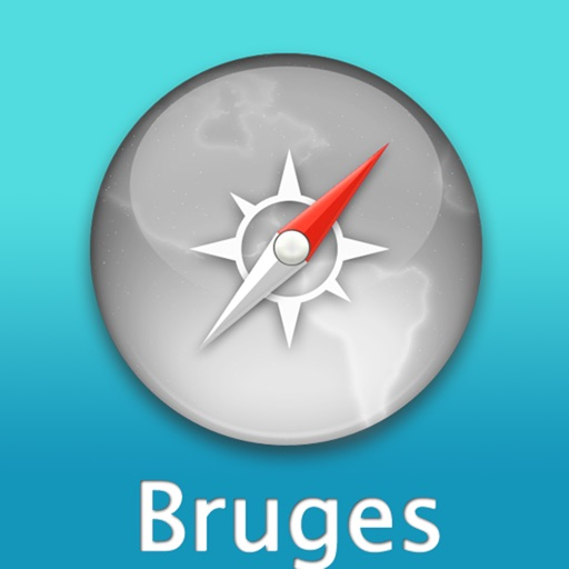 Bruges Travel Map (Belgium)