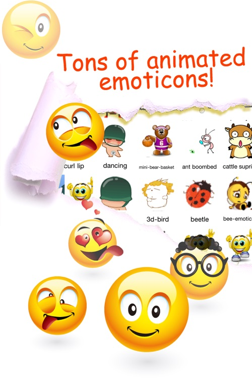Animated Emoticons™ for MMS Text Message, Email!!!(FREE) screenshot-0