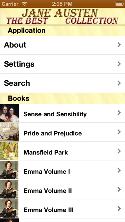 Best Jane Austen Collection (with search)