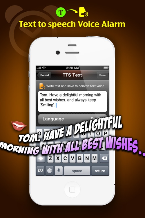 TTS Alarm free (Text-to-speech) by FMPROJECT