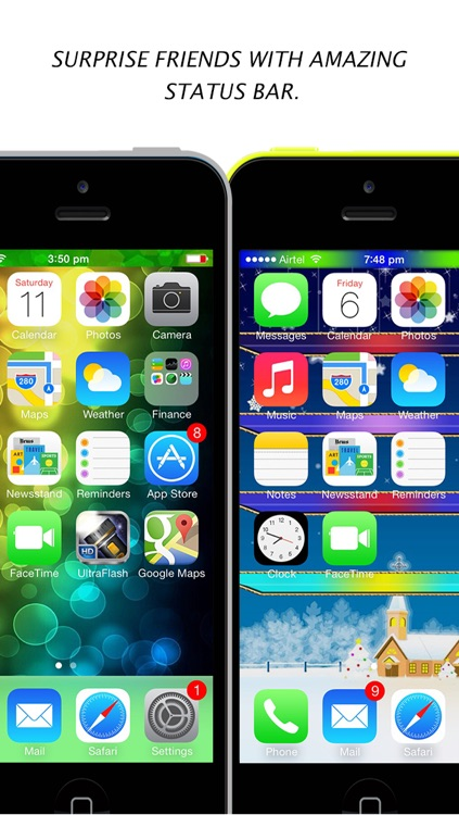 Color Dock Customizer - Colored Top and Bottom Bar Overlays for your Wallpaper screenshot-3