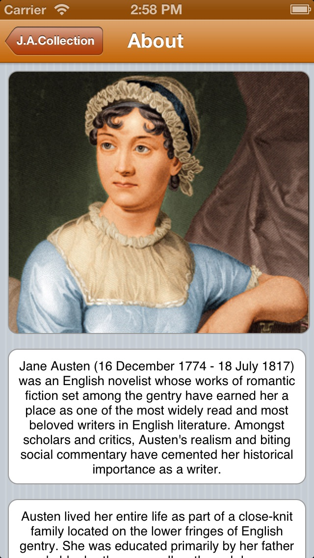 importance of fathers jane austen (saturday, december 16th) jane austen is born to george and cassandra austen at steventon rectory she is the seventh child and second daughter behind brothers james, george, charles, francis, henry, edward and sister cassandra (not to be confused with her mother, also named cassandra.
