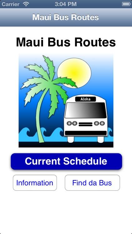 Maui Bus Routes