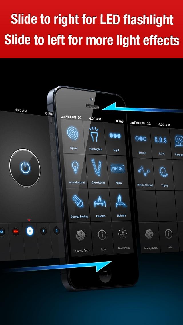Screenshot for iHandy Flashlight Pro in Denmark App Store