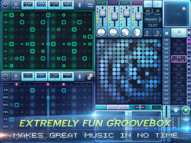 MINT.io Groovebox Synth - Make House, Dubstep, Techno, Breakbeat screenshot-0