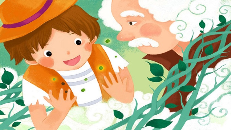 Jack and the Beanstalk - bedtime fairy tale Interactive Book iBigToy-child