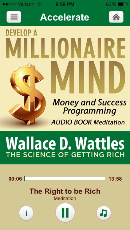 Millionaire Mind Hypnosis- Money and Success Audiobook Meditations  Derived from Wallace D. Wattles book: The Science of Getting Rich and The Secret