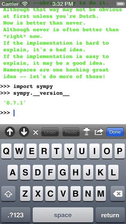 Python 2.7 for iOS screenshot-0