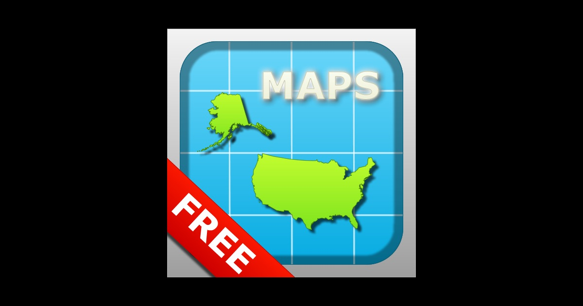 usa maps on the app store. Black Bedroom Furniture Sets. Home Design Ideas