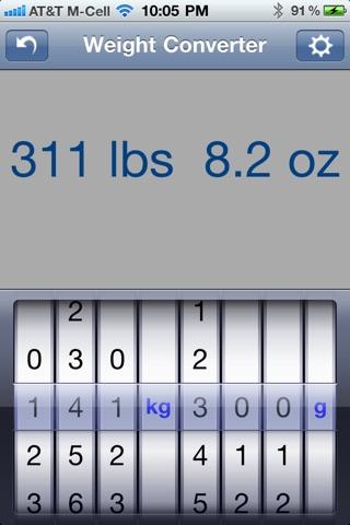 Weight Converter screenshot four