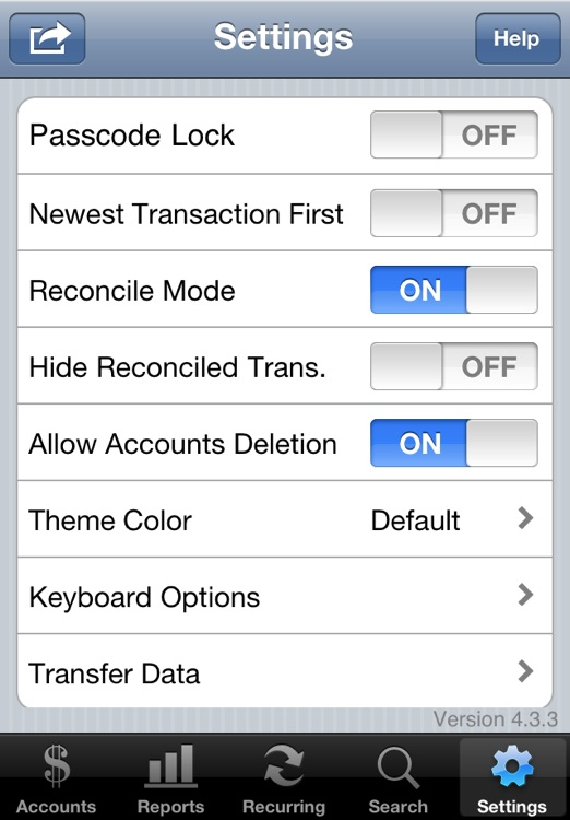 Accounts Lite - Checkbook screenshot-4