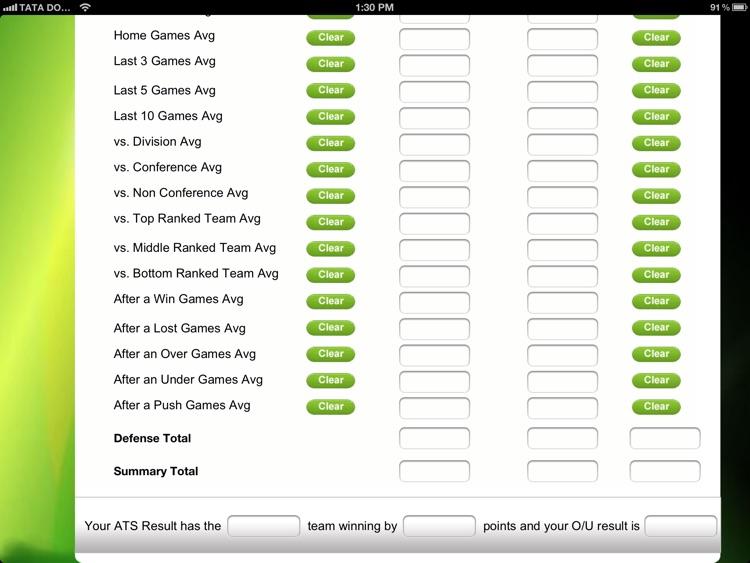 ATS Calculator -  Sports Predictions Software 2014 screenshot-3